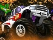 Curse cu camioane pe dealuri uriase