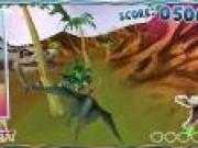 Jocuri cu Dinozauri arunca bolovanii