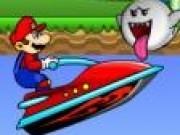 Jocuri cu Mario pe jet ski