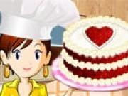 Sara gateste tort rosu catifea