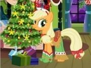 applejack micul ponei de imbracat pentru craciun