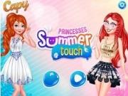 Jocuri cu atingerea de vara cu printese disney