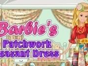 Jocuri cu barbie designer rochie traditionala din petice