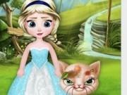 Jocuri cu bebe elsa salveaza pisica