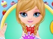 bebelusa barbie si manichiura draguta