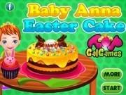 bebelusul anna gateste tort pentru paste