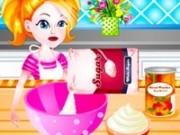 bucatareasa barbie de placinta cu capsuni