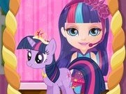 cai din micul meu ponei cu bebelusa barbie