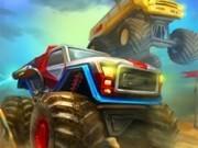 Jocuri cu camioane cu roti uriase in curse nitro