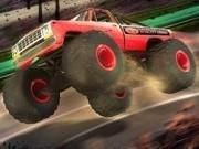 Jocuri cu camioane de curse prin cascadorii