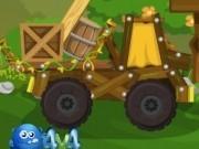 Jocuri cu camioane de lemn offroad in padure