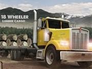 camion cu 18 roti la carat de lemn