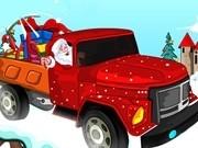 camionul de cadouri a lui santa