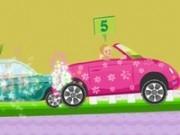 curse de masini roz cu barbie
