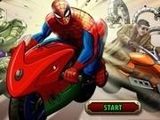 curse de motociclete cu spiderman