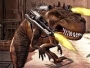 dinozaurul rex cu distrugeri de arme