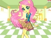 fluttershy fetita ponei la scoala