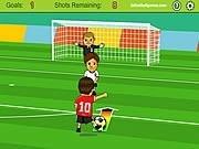 fotbal atacantul suturi la poarta