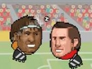Jocuri cu fotbal cu capul de fotbalisti vedeta