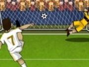 Jocuri cu fotbalul sutat la poarta