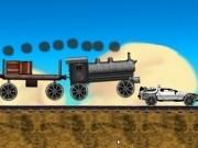 Jocuri cu inapoi in viitor masina impinsa de tren