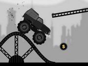 Jocuri cu jeep negru de curse cu cascadorii