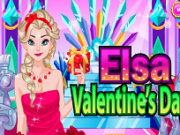 Jocuri cu machiat si imbracat elsa frozen de valentines