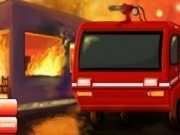 masina de pompieri in misiune