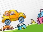 Jocuri cu masinute conduse pe rechizite