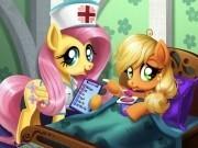 Jocuri cu micul meu ponei applejack are dureri de burta