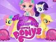 Jocuri cu micul meu ponei si bebelusa barbie