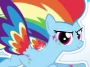 micul ponei rainbow dash moda curcubeu