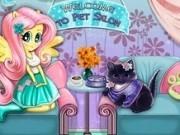 Jocuri cu micuta ponei fluttershy ingrijeste pisica