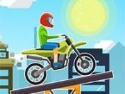 Jocuri cu moto extreme pe traseu de constructii