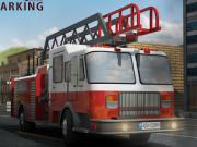 parcheaza camionul 3d de pompieri