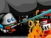 pompierul curajos stinge focul