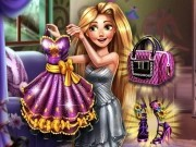 Jocuri cu printesa rapunzel puzzle si costumul pentru bal