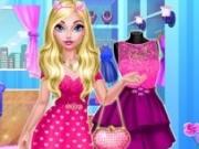 Jocuri cu rochie roz a printesei elsa