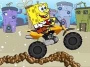spongebob in curse cu atv de iarna