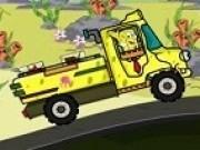 spongebob pantaloni patrati cu camionul de marfa