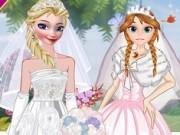 surorile frozen in rochii de mireasa