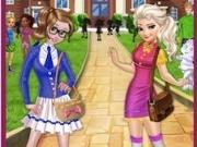 Jocuri cu surorile frozen la scoala din arendelle