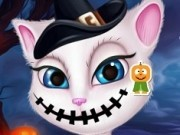 talking angela transformare de halloween