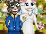 talking tom si angela in costume de nunta