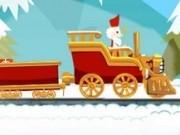 Jocuri cu trenul de cadouri cu mos nicolae