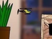 zbor cu elicopter de jucarie